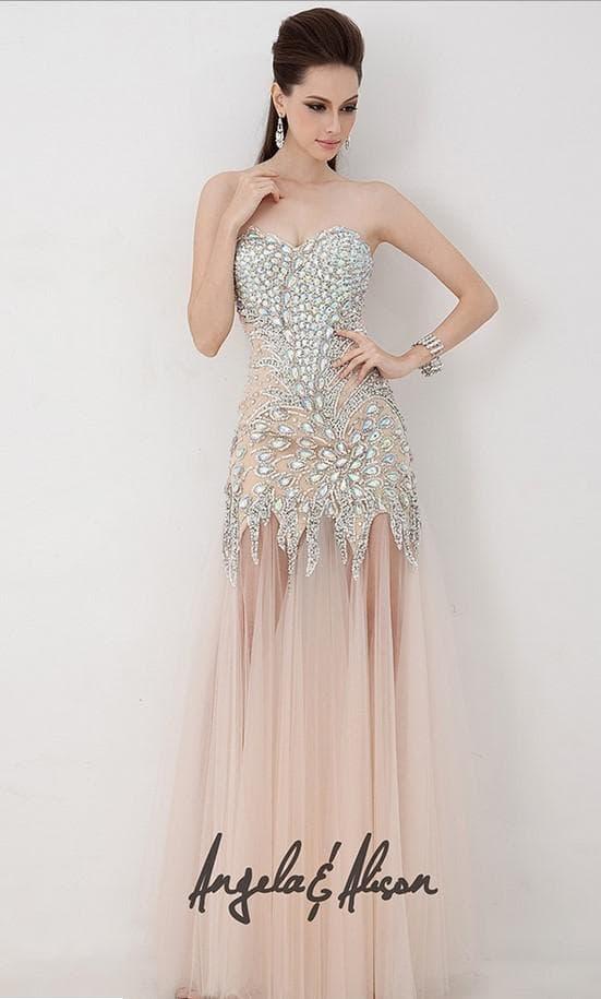 Нарядное платье в пол розовое