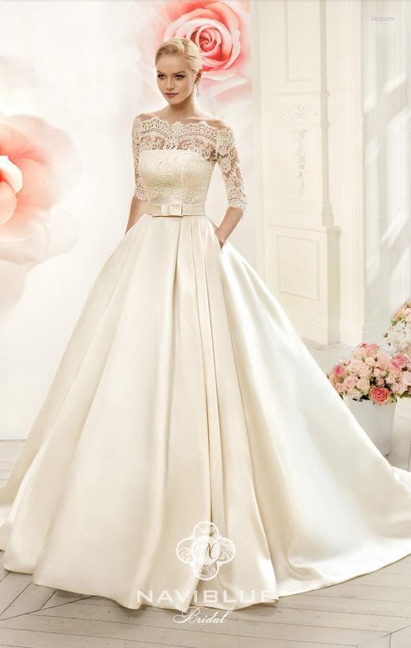 свадебное платье айвори от Нави Блю