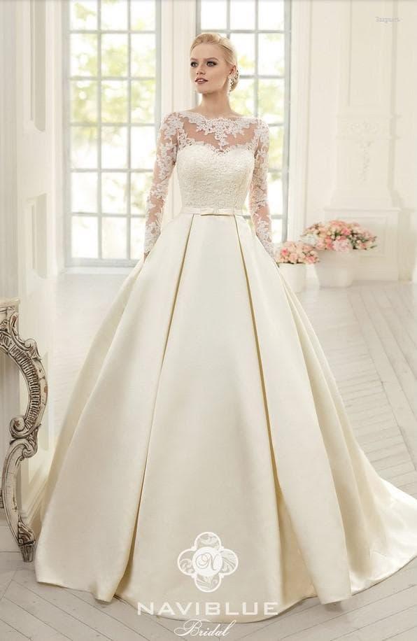 Королевское пышное платье на свадьбу от Navi Blue