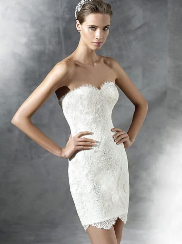 Короткое свадебное платье Проновиас