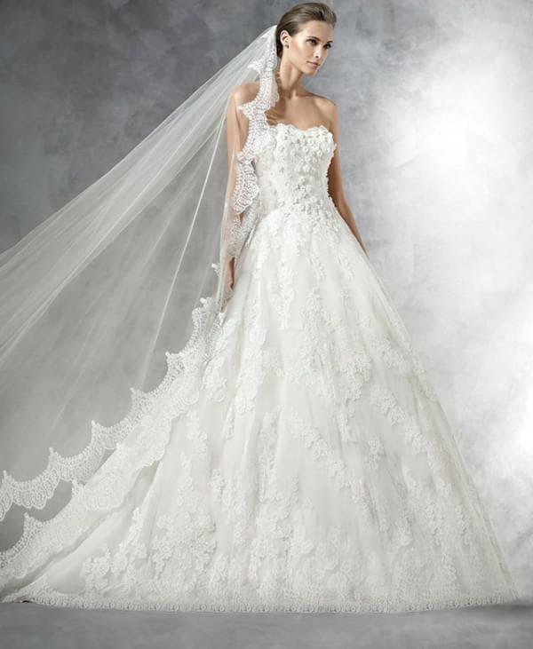 """Свадебное платье """"принцесса"""" от Pronovias"""