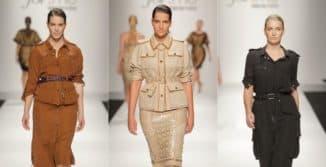 Платья сафари для полных леди