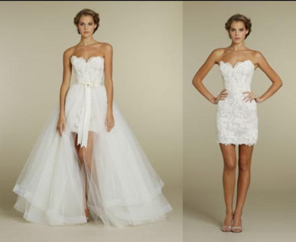 Свадебное многофункциональное платье с полуюбкой