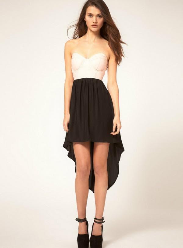 Черно-белое летнее платье