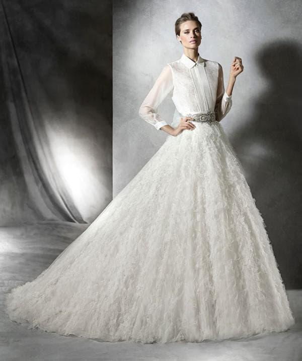 Свадебное платье с лифом рубашкой