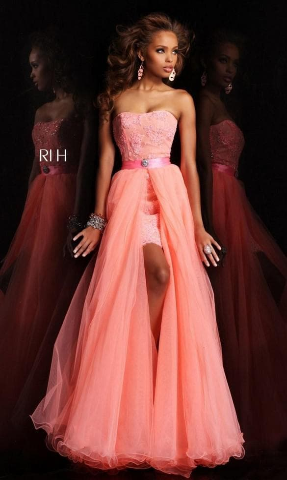 Розовое платье-трансформер на выпускной