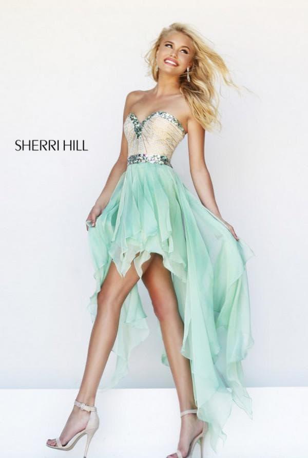 Платье Sherri Hill со шлейфом для школьного выпускного