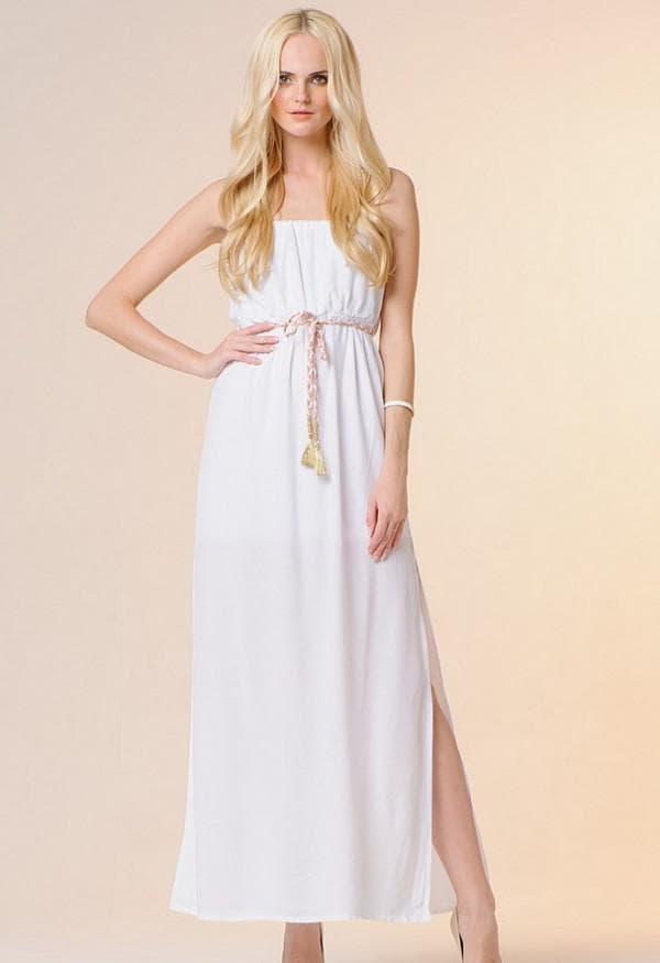 Летнее платье белое в греческом стиле