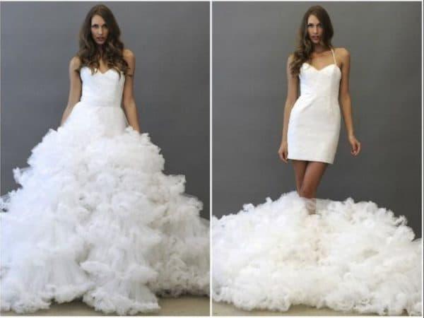 Платье невесты со съемной юбкой