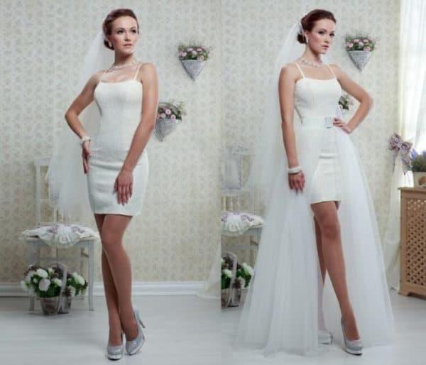 Платье-трансформер для невесты многофункциональное