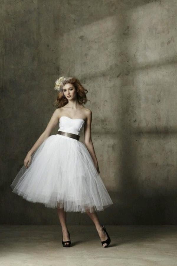 винтажное свадбеное платье в стиле 60-х