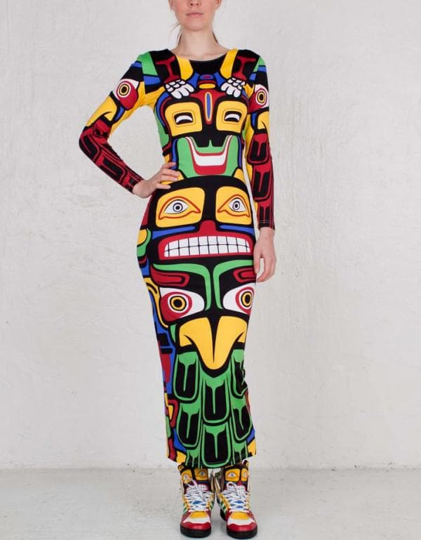цветное платье Adidas