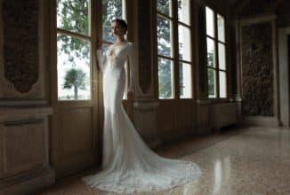 кружевное платья с длинными рукавами для невесты