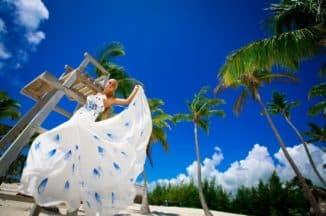 платье невесты для пляжа