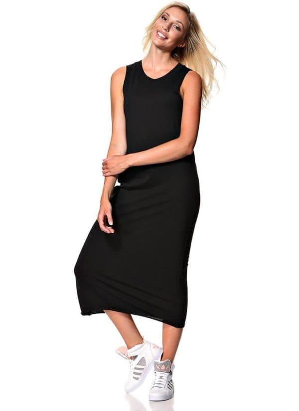 спортивное платье черного цвета