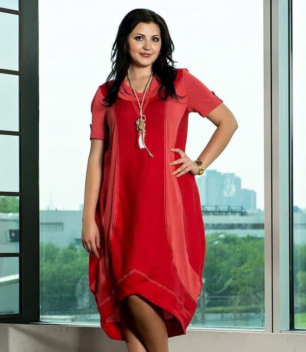 красное спортивное платье для полных