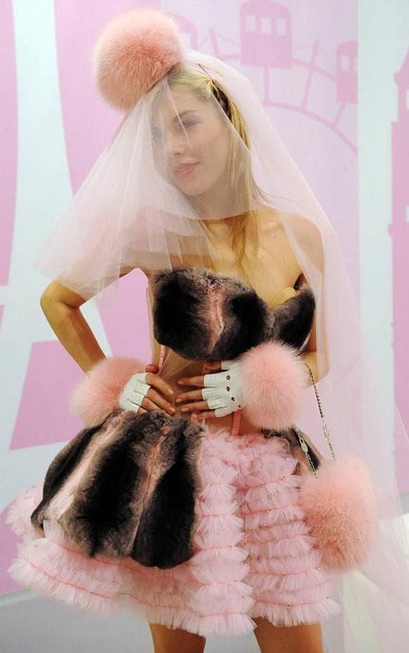 свадебное платье из меха