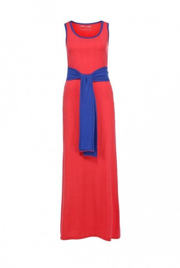 длинное красное спортивное платье