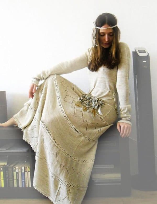 Длинное платье бохо