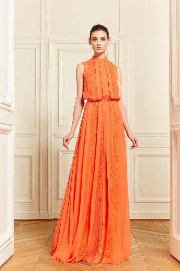 Оранжевое платье для беременной на свадьбу подруги