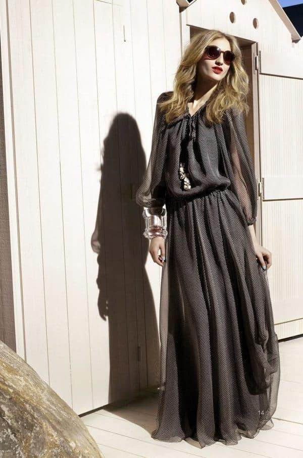 чтильное платье для полной леди
