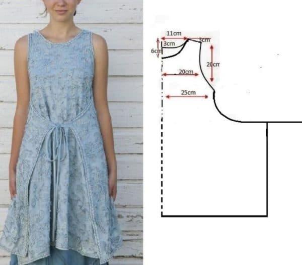 Выкройка платья в стиле бохо