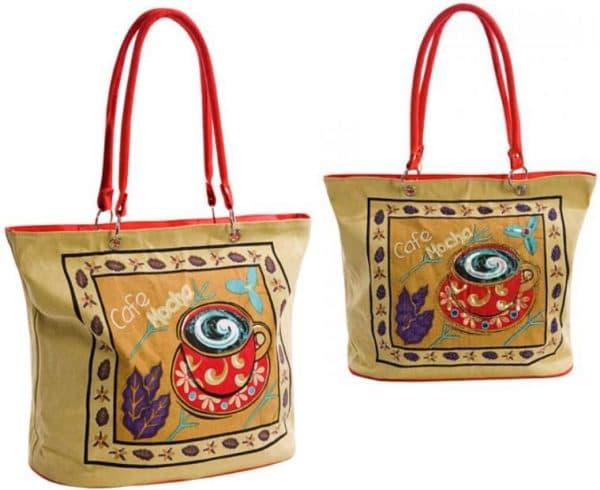 текстильная летняя сумка