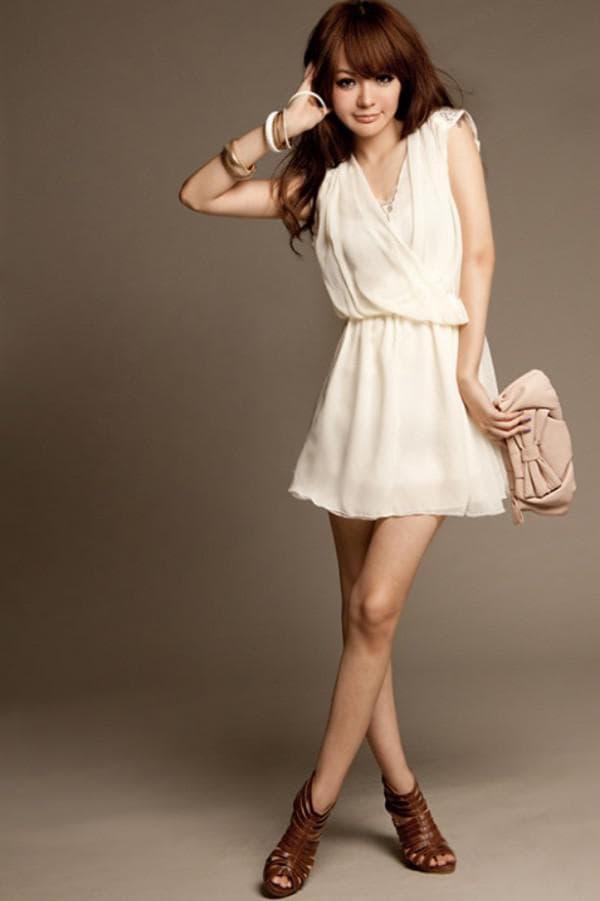 платье в греческом стиле с напуском