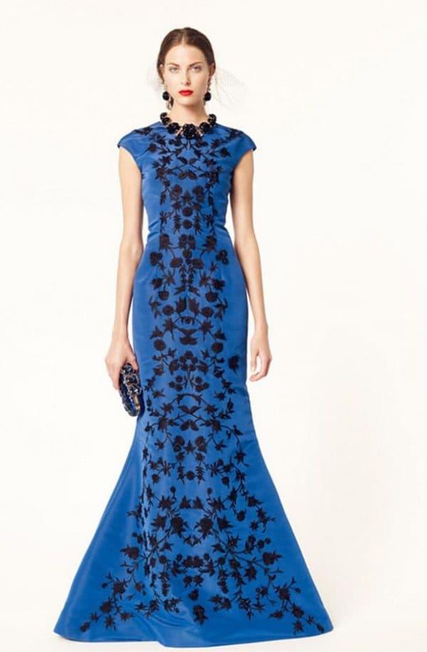 синее платье рыбка