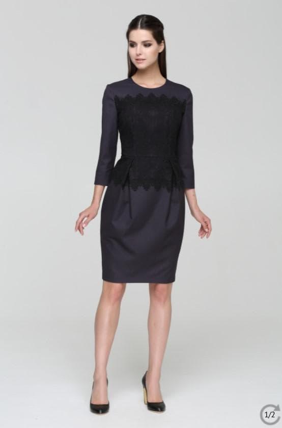 платье с бархотными вставками