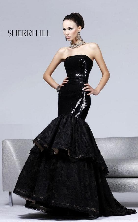 черное платье русалочка