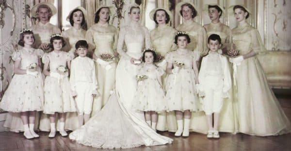 подруги невесты на свадьбе Грейс Келли