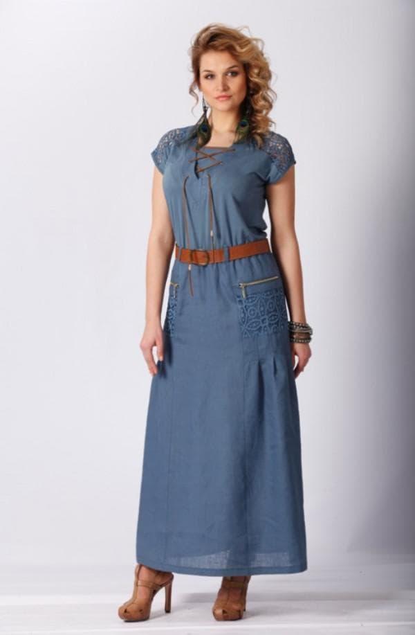 льняное платье белорусского производства
