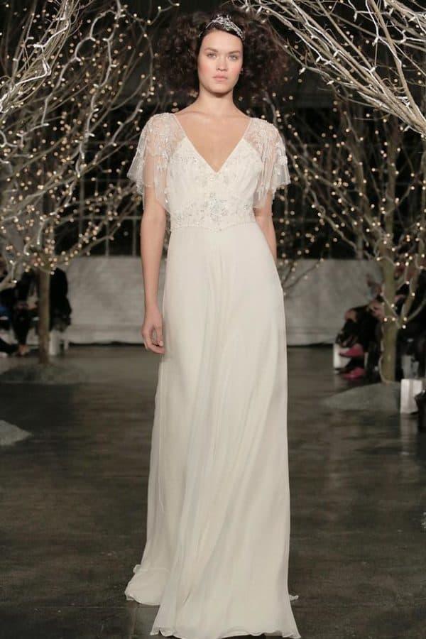 скромное свадебное платье в ретро стиле
