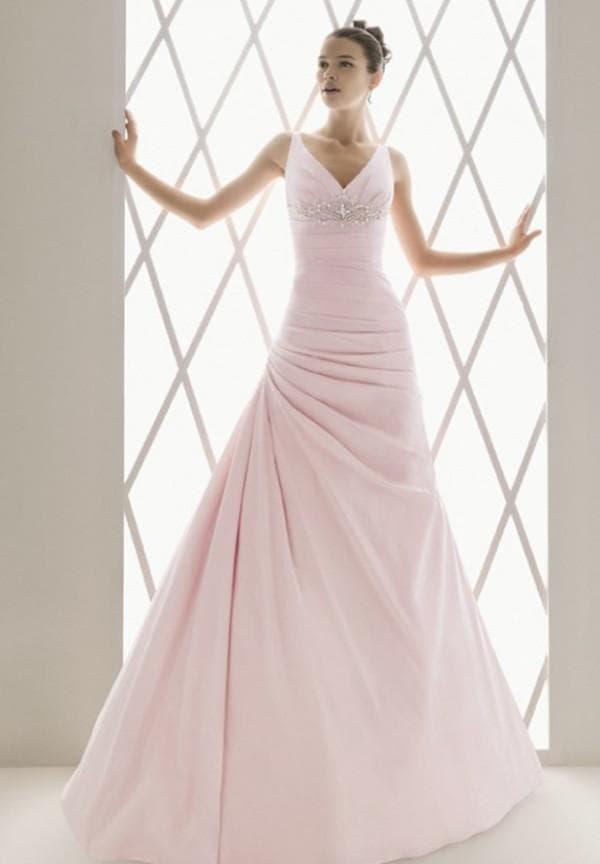 простое платье в пол для невесты