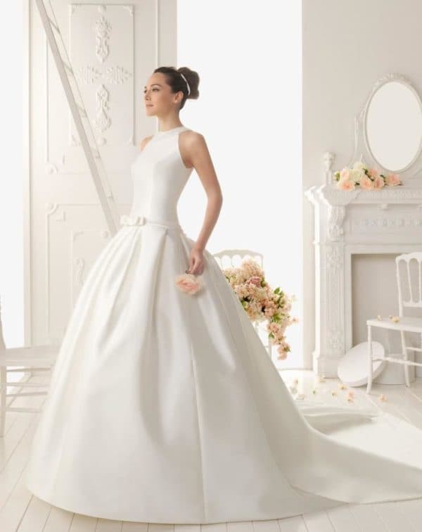 скромный наряд невесты
