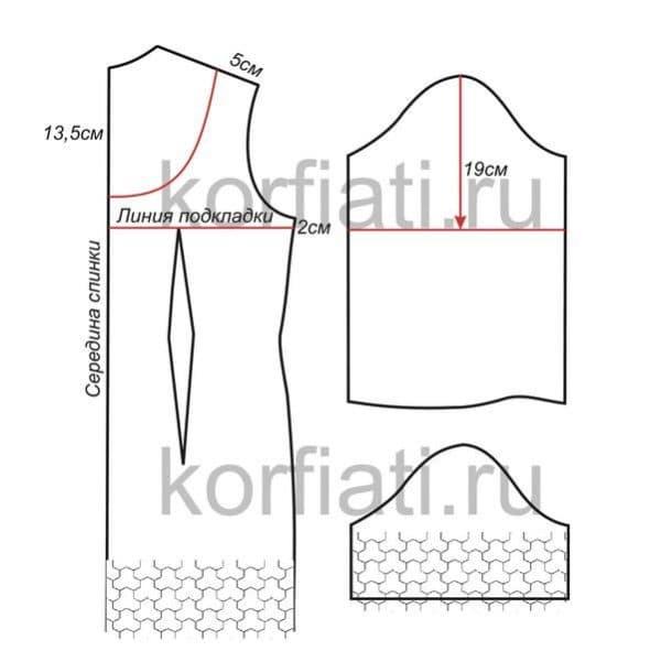 выкройка для самостоятельного пошива недорогого свадебного платья