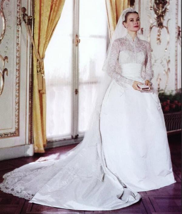 свадебный наряд Грейс Келли фото