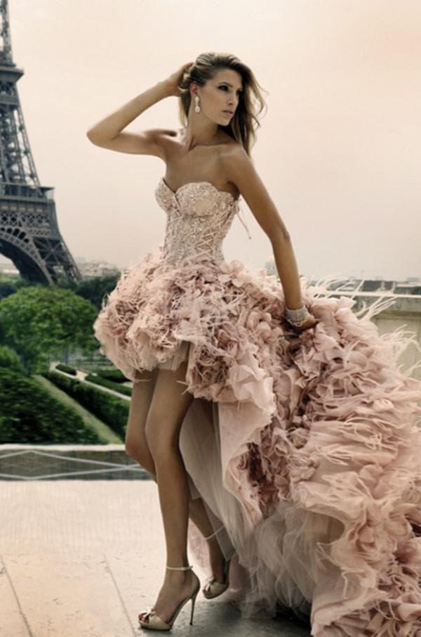 свадебное платье с открытыми ногами