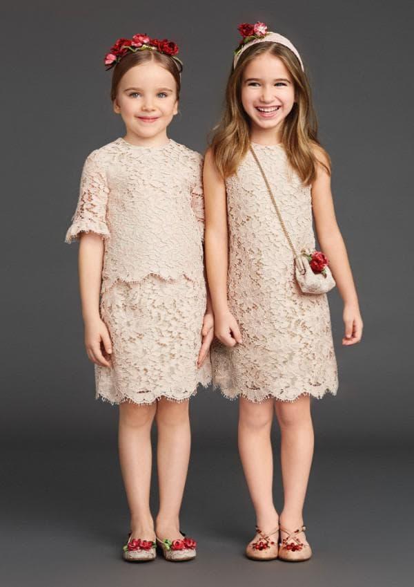 кружевное платье для девочки от Диор
