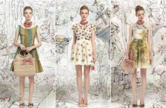 платья в цветочек