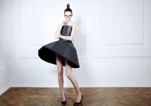 модное платье из бумаги