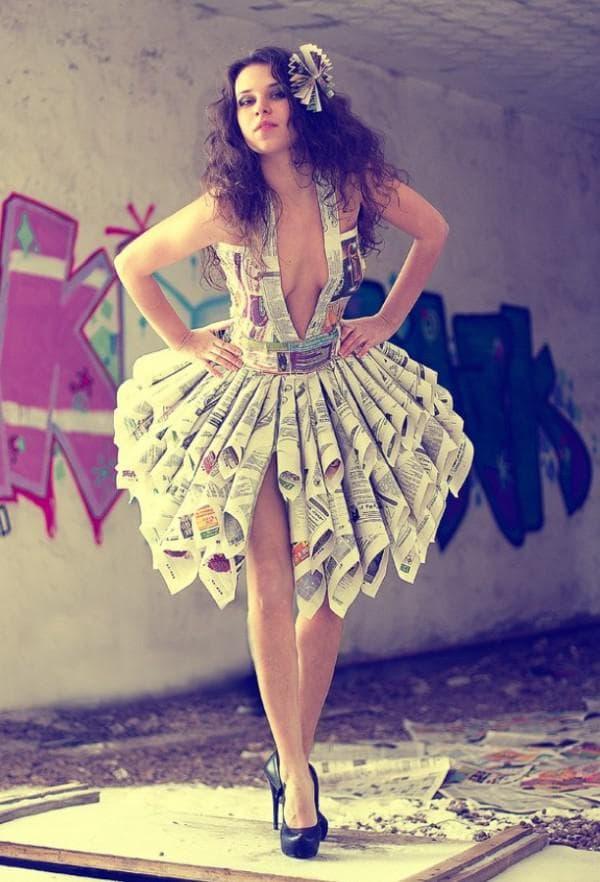 платье из глянцевых журналов и газет
