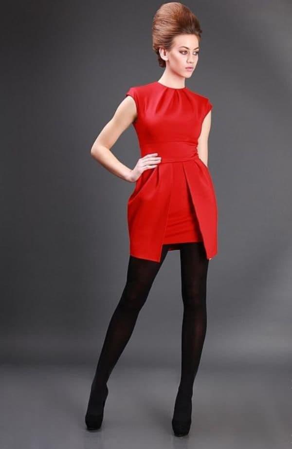 красное платье мини для свидетельницы