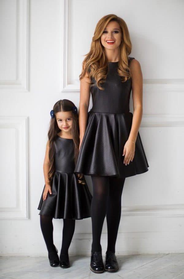 одинаковая одежда для мам и дочек