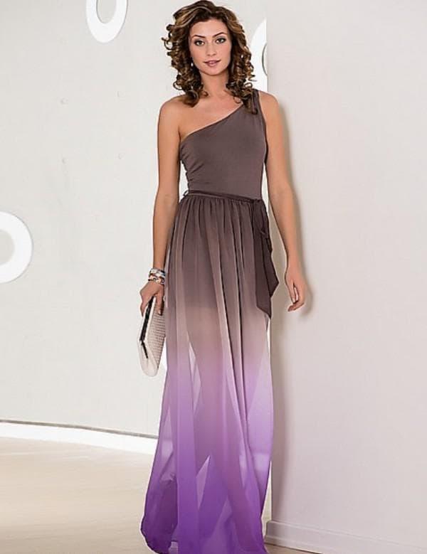 удлиненная юбка платья