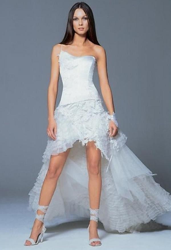 белое платье удлиненное
