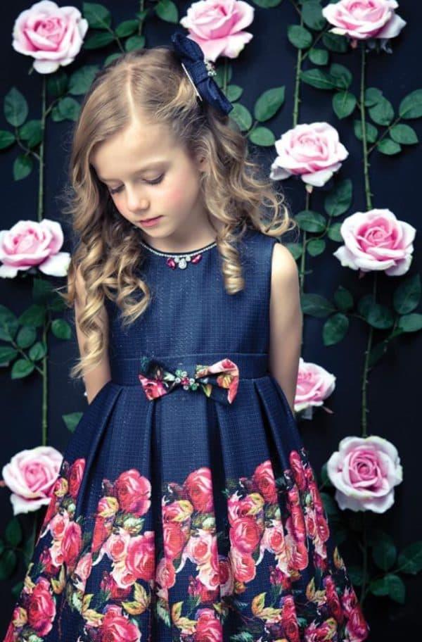 элегантное платье для встречи Нового года для девочки