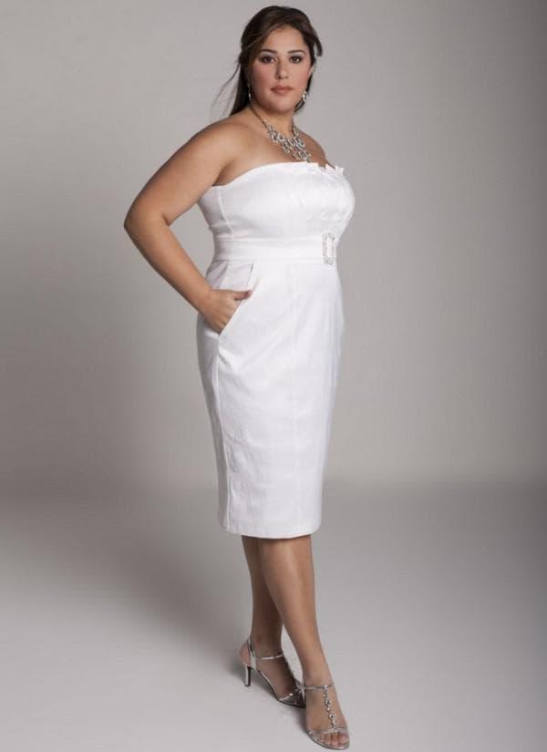 платье миди для полных невест