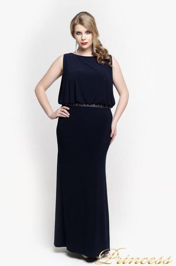 платье в пол на Новый год большого размера